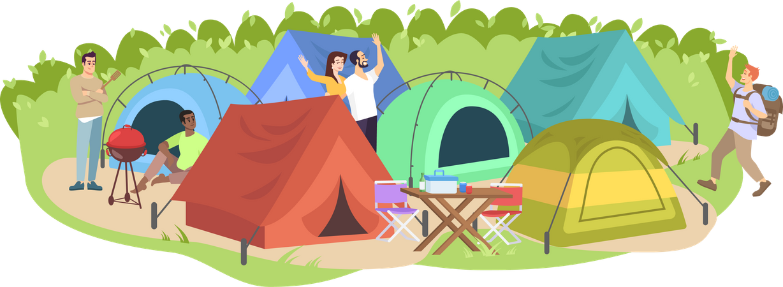 Camping festival Illustration