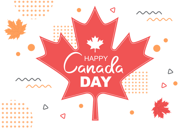 Canada Independence Day Illustration