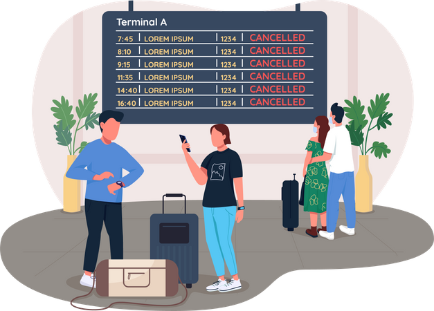 Cancelled flights Illustration