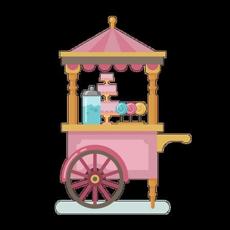 Candy cart Illustration
