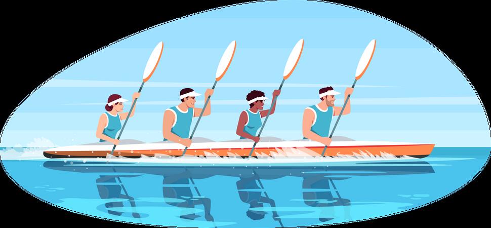 Canoe competition Illustration