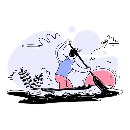 Canoe Sprint Illustration