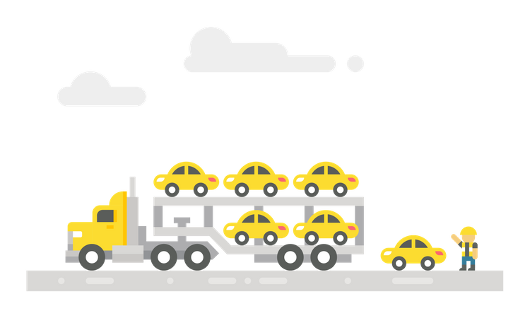 Car delivery truck Illustration