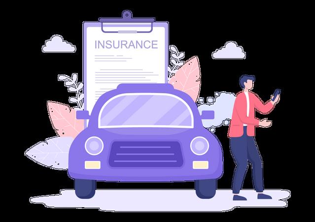Car Insurance Buyer Illustration