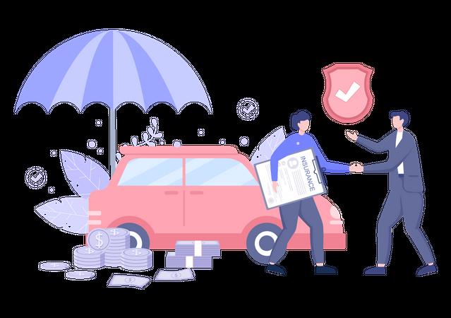 Car Insurance claim Illustration