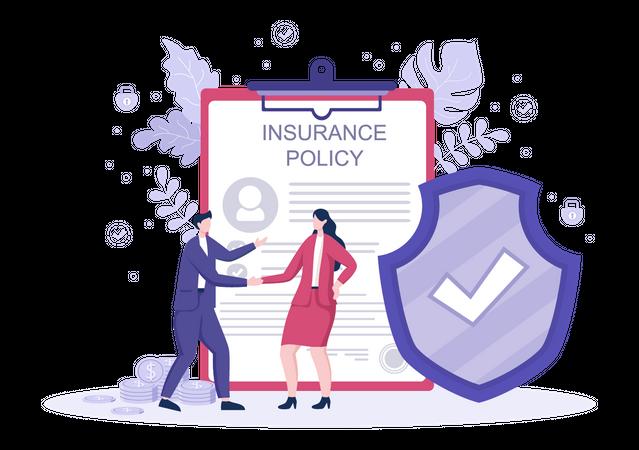 Car Insurance deal Illustration