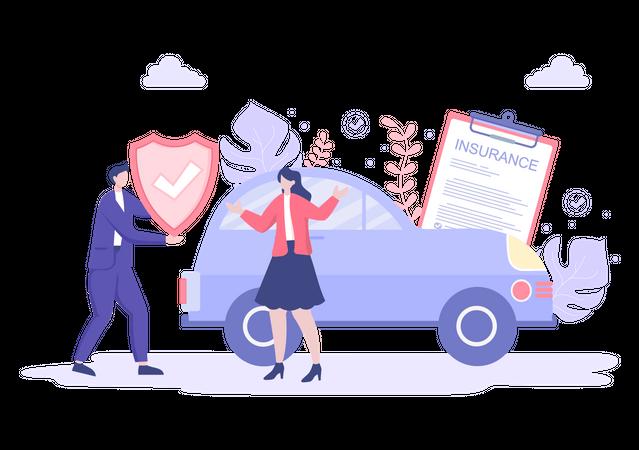 Car Insurance policy Illustration