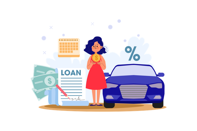 Car Loan Illustration