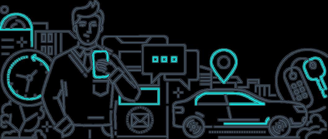 Car sharing Illustration