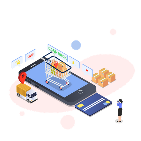 Card payment Illustration