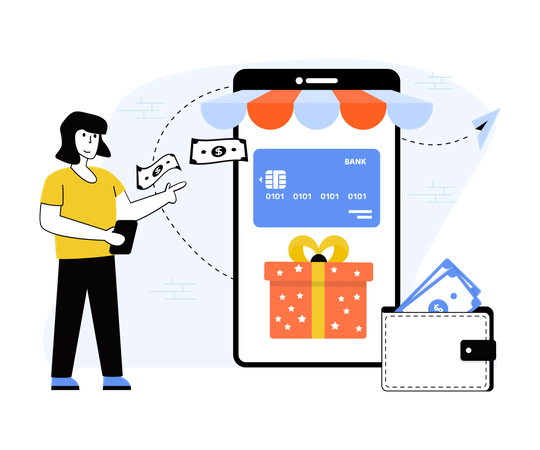 Card payments Illustration