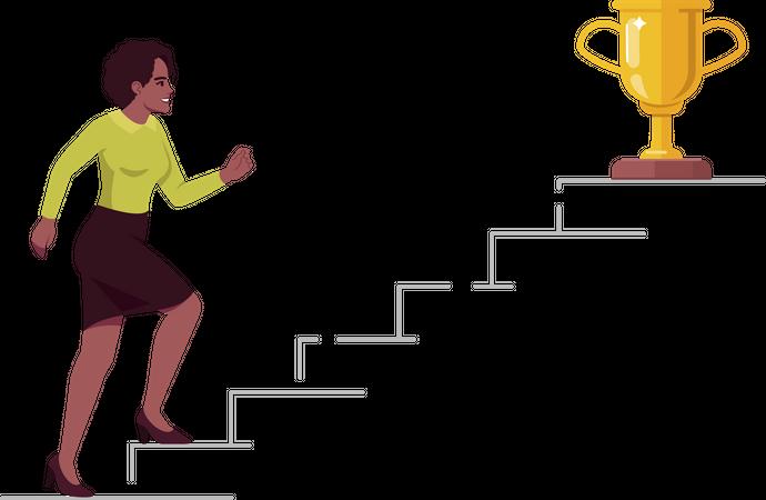 Career aspirations and goals Illustration