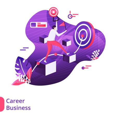 Career Business Modern Illustration Illustration