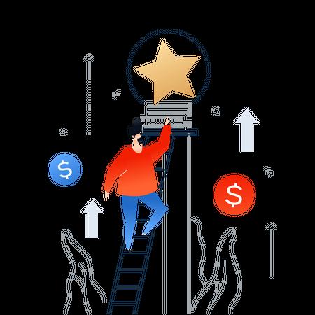 Career growth Illustration