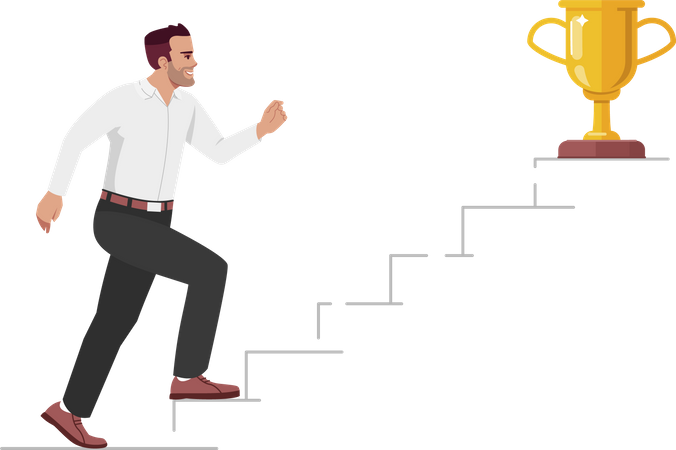 Career growth and job promotion Illustration