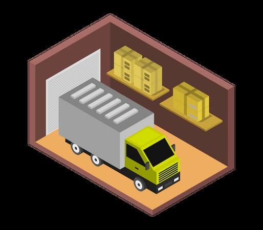 Cargo House Illustration