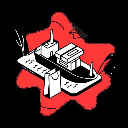 Cargo shipping service Illustration