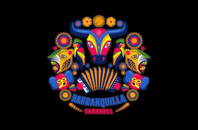 Carnaval de Barranquilla Illustration