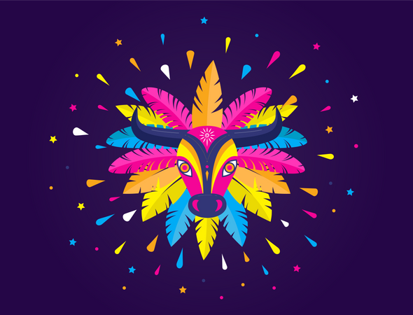 Carnival party Illustration