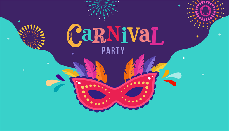 Carnival party poster Illustration