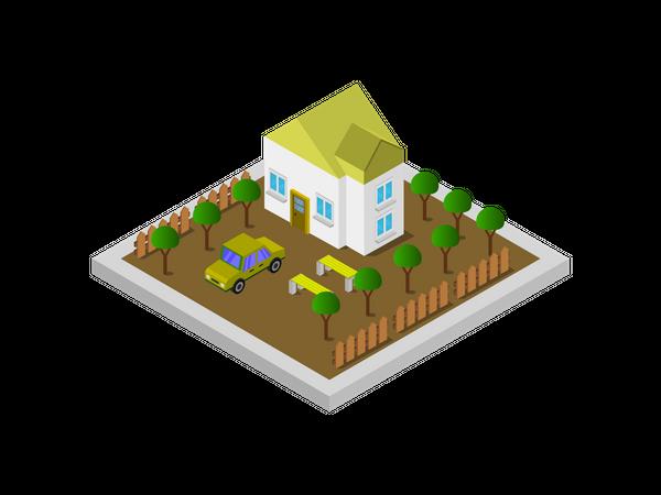 Casa House Illustration