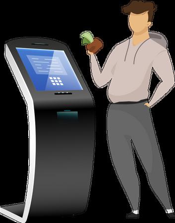 Cash machine user Illustration