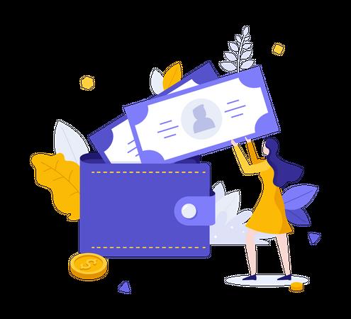 Cash Payment Illustration