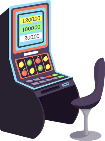 Casino Slot machines Illustration