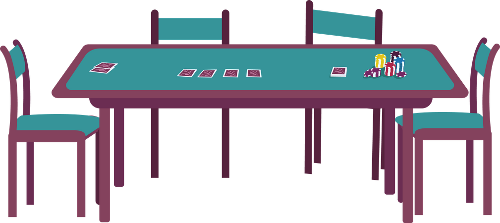 Casino table Illustration