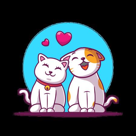 Cat in love Illustration