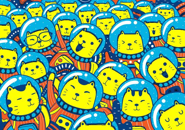 Catstronaut Illustration