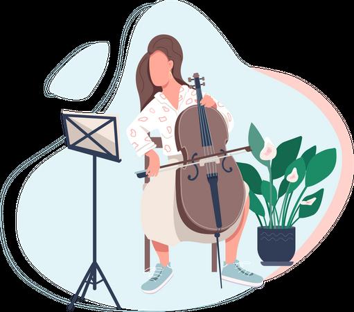 Cello player Illustration
