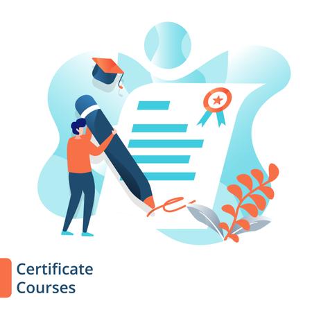 Certificate Courses Illustration