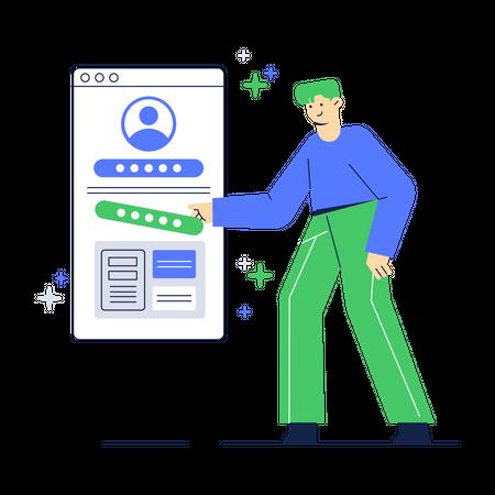 Change Account Password Illustration