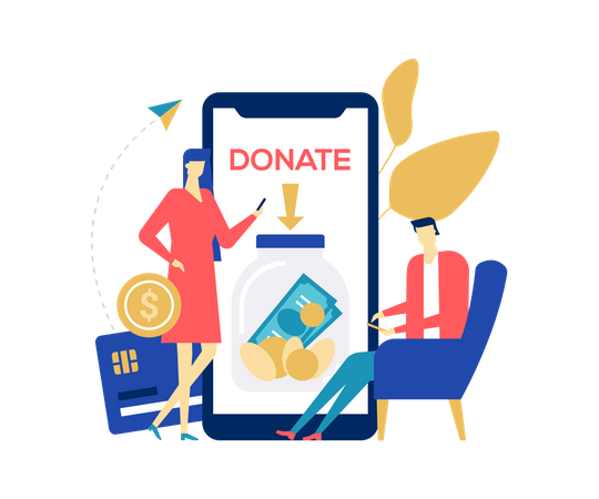 Charity and donation Illustration