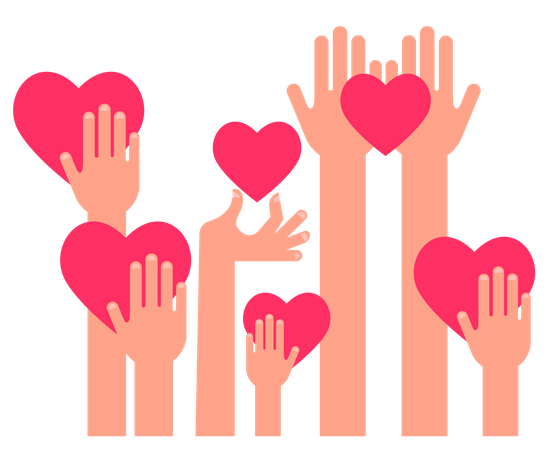 Charity, Giving And Donation Illustration