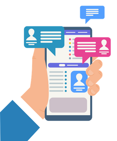 Chat Communication and social profile Illustration