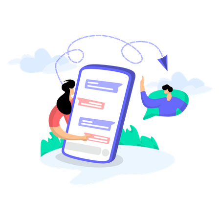 Chat With Friends Illustration