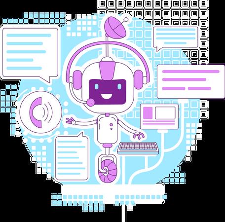 Chatbot app Illustration