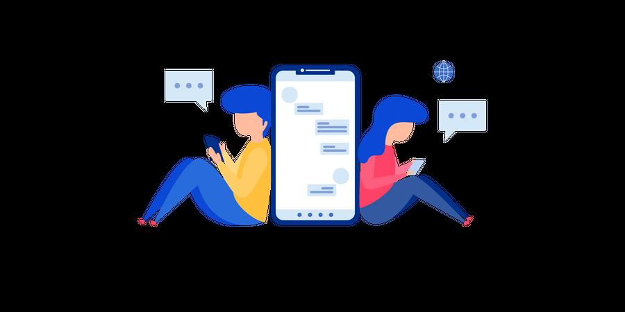 Chatting Illustration