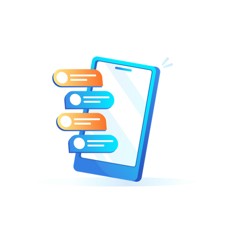 Chatting application Illustration