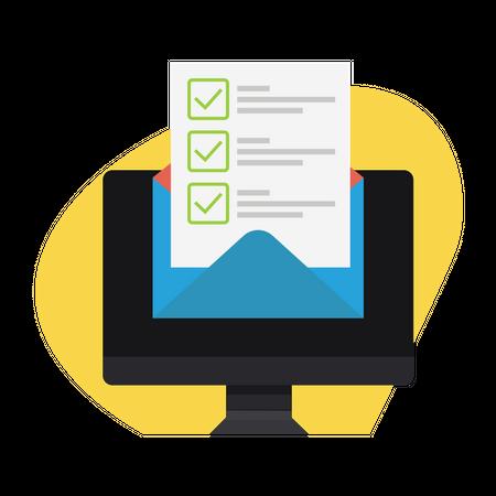 Checklist via email Illustration