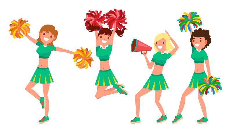 Cheer-leading Team Illustration
