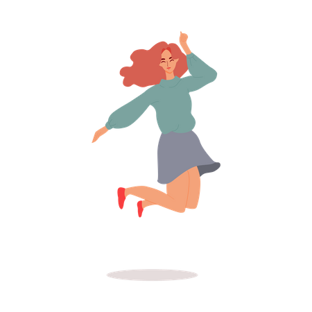 Cheerful woman Illustration