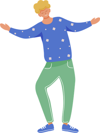 Cheerful young man Illustration