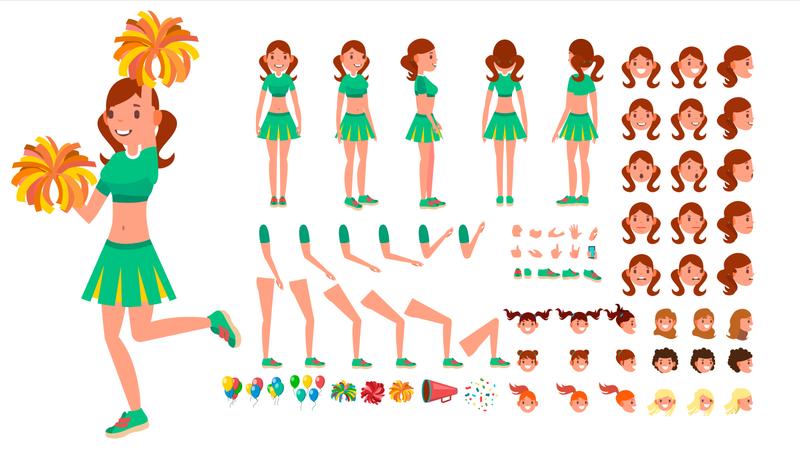 Cheerleader Girl Illustration