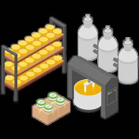 Cheese Production Unit Illustration