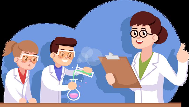 Chemical club for children Illustration