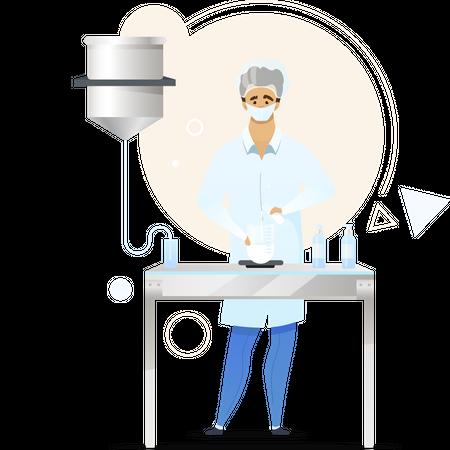 Chemist flat Illustration