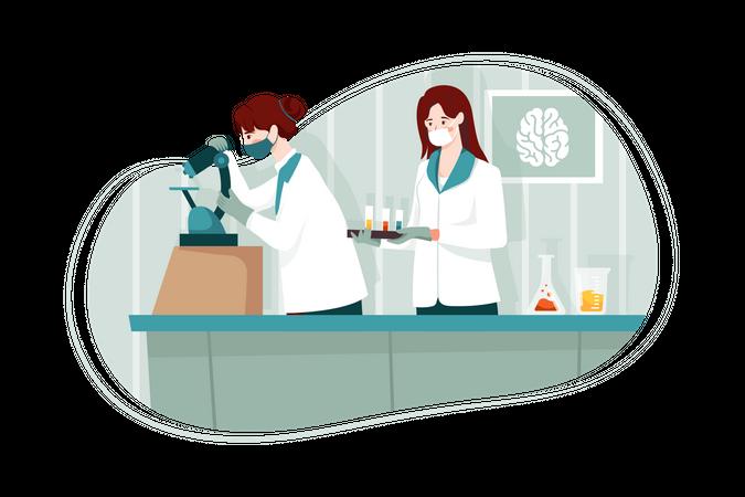 Chemistry laboratory Illustration